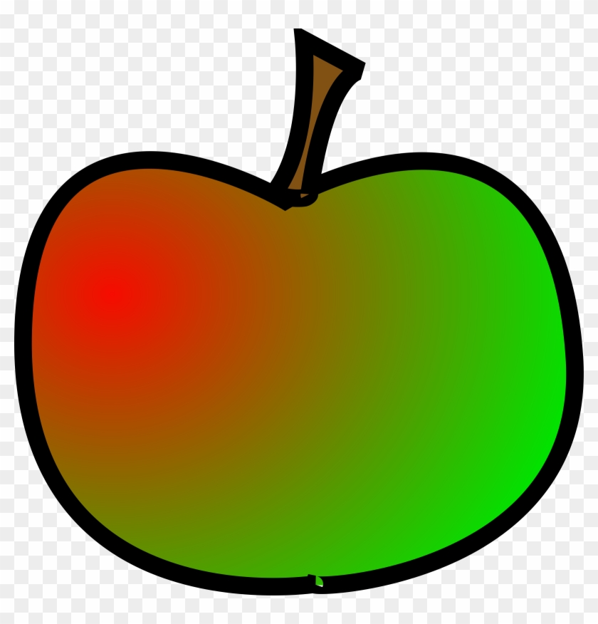 Apple By @bogranger, Simple Apple, Created In Inkscape, - Clip Art Red And Green Apple #379234