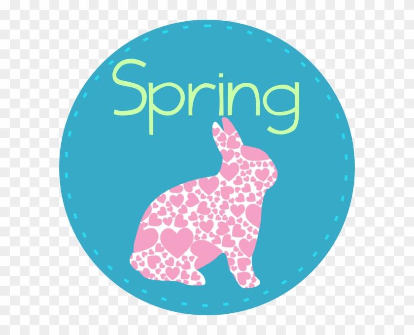 Spring With Bunny Clip Art - Spring Bunnies Clip Art #380045