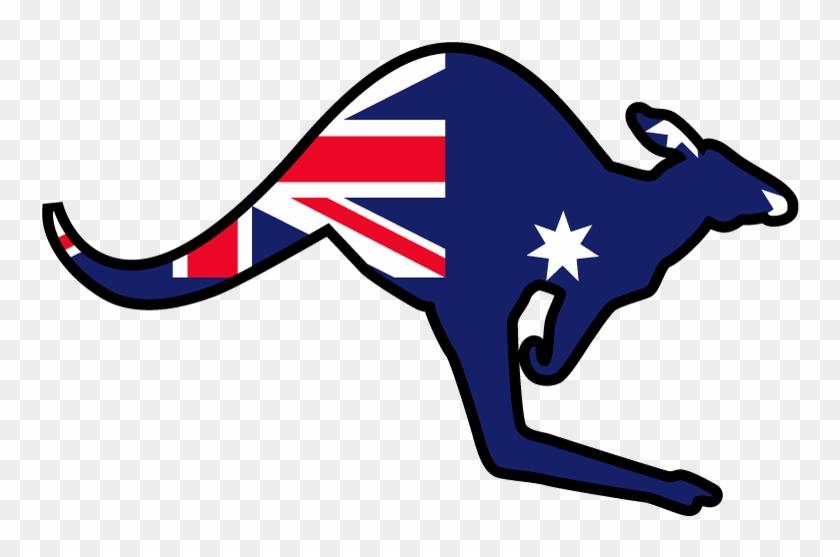 Australia Flag Kangaroo Png - Kangaroo Australia Logo #380759