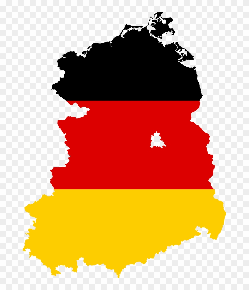 Flag Map Of East Germany - East Germany Flag Map #380769