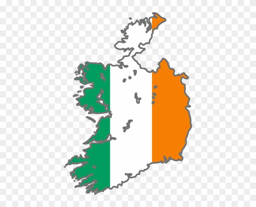 Really - Irish Flag In Shape Of Ireland #380869
