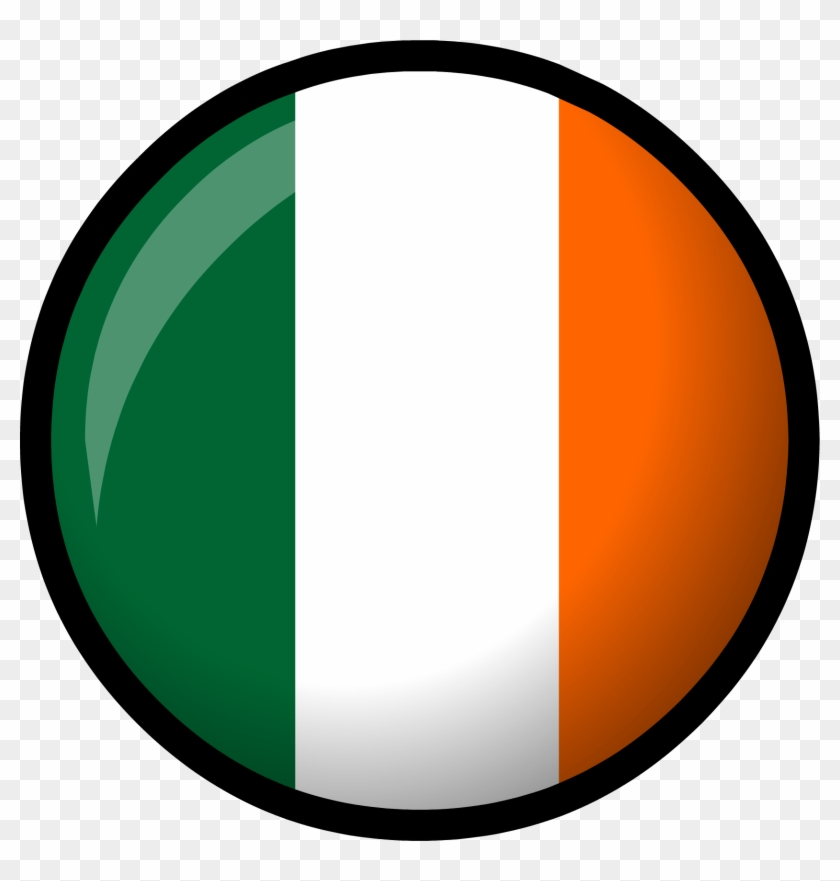 Irish Flag Clip Art - Ireland Flag Circle Png #380871