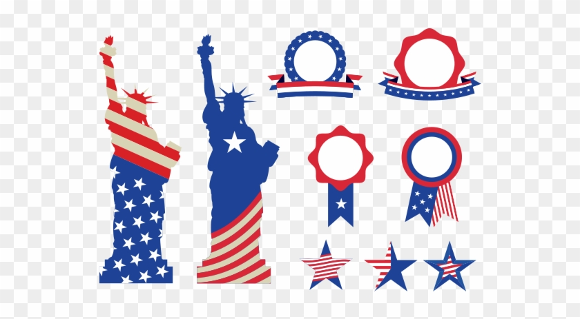 Usa Symbols And Badges Free Vector And Png Statue Of Liberty