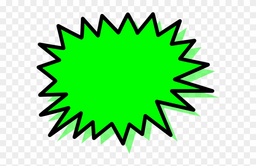 How To Set Use Green Explosion Blank Pow Svg Vector - Green Explosion Clipart #380960