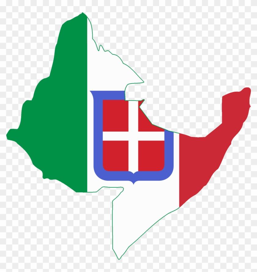 Flag Map Of Italian East Africa - Map Of Italian East Africa #381362