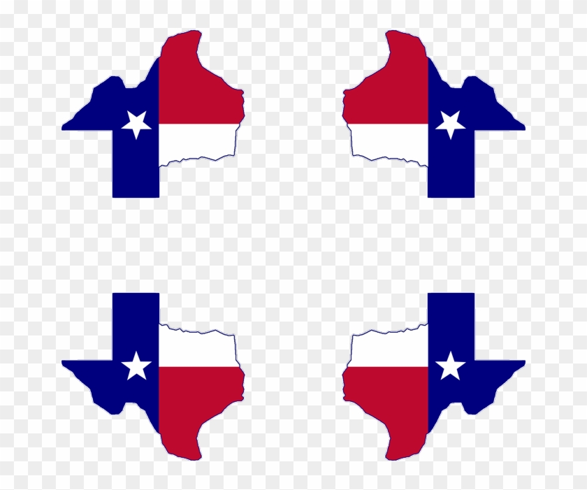 Texas Flag Map Mousepad