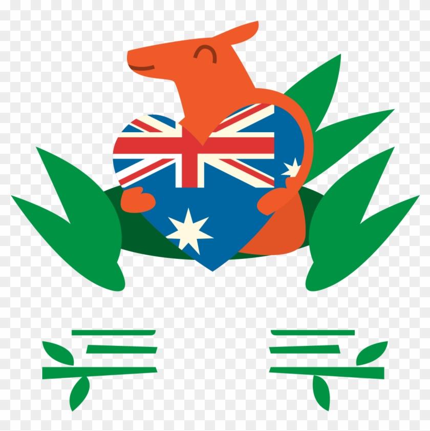 Australia Day Kangaroo Koala - Australia And New Zealand Flags #381759