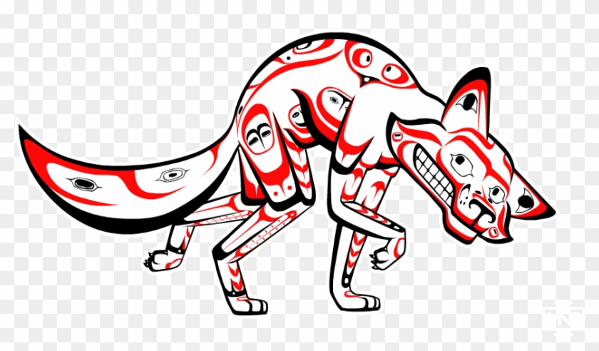 Coyote The Trickster Styled In The Tlingit Native American - Native Americans In The United States #381868