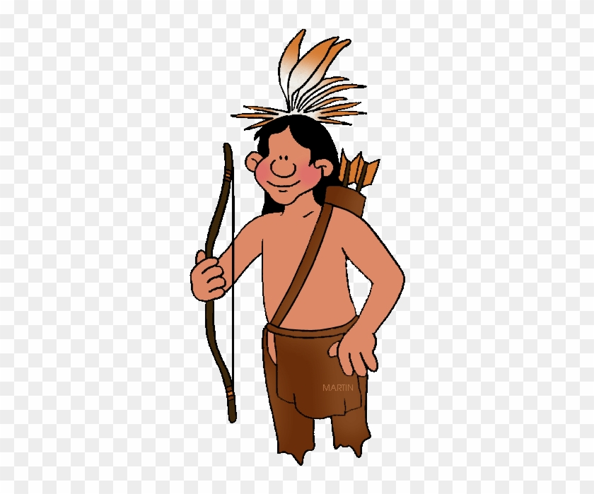 Native Americans Clip Art By Phillip Martin - Native American Man Clipart #382036