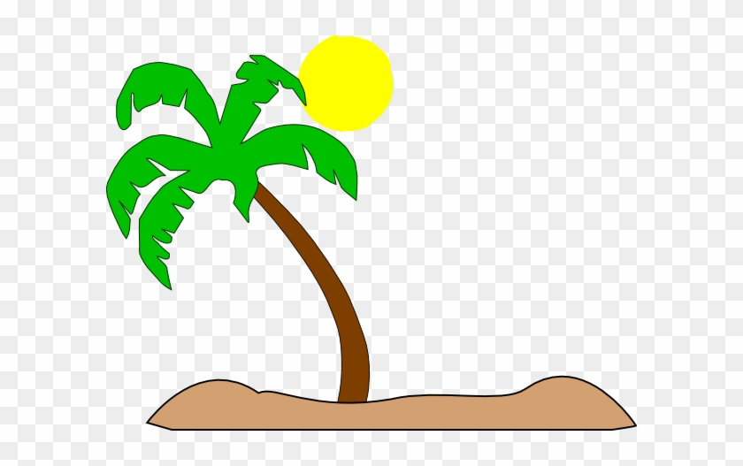 Palm Tree Beach Clip Art #382068