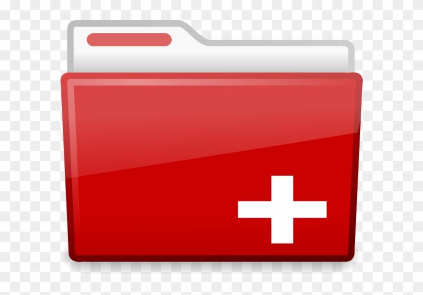 Red Cross Folder Icon #382375