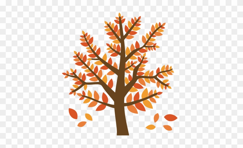 Fall Tree Svg Files For Scrapbooking Fall Tree Svg - Fall Tree Clipart Transparent Background #382434