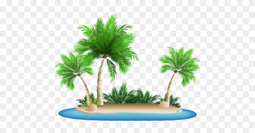 Palm Tree Png Clipart - Palm Tree Beach Clipart #382655
