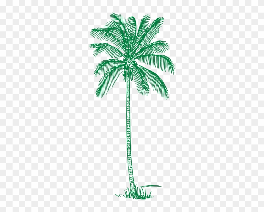 Green Palm Tree Clip Art At Clker - Green Palm Tree Clipart #382761