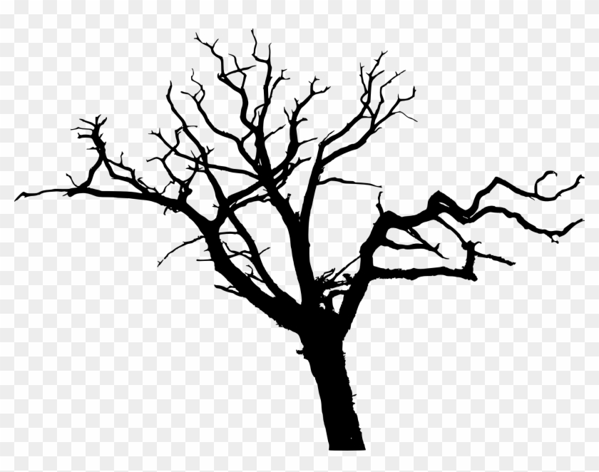 12 Simple Bare Tree Silhouettes - Simple Tree Silhouette Png #382766