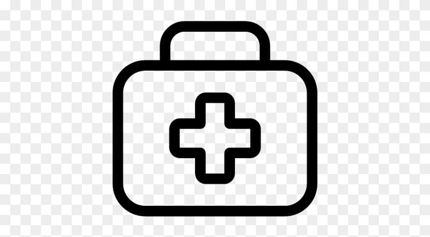 28 Collection Of Kit Clipart Black And White - First Aid Kit Outline #382774