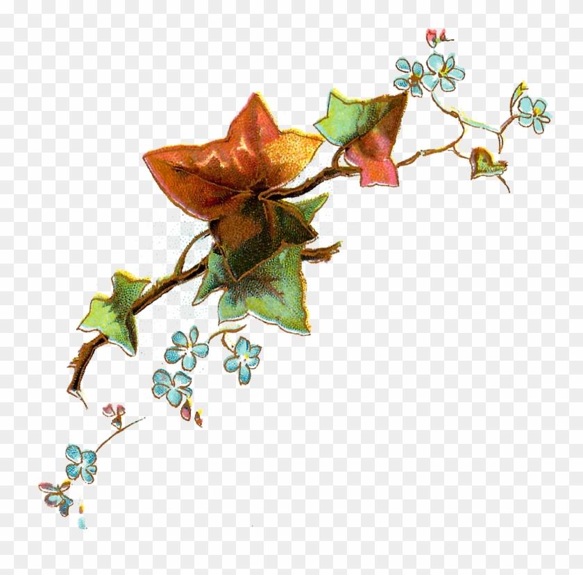 Flower - Vintage Leaf Art Png #382914