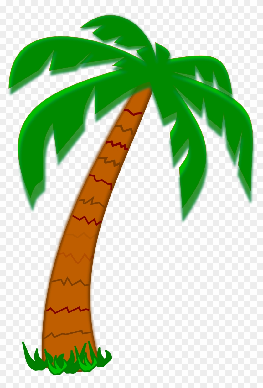 Date Palm Tree Clipart - Palm Tree Cartoon Drawing #383021