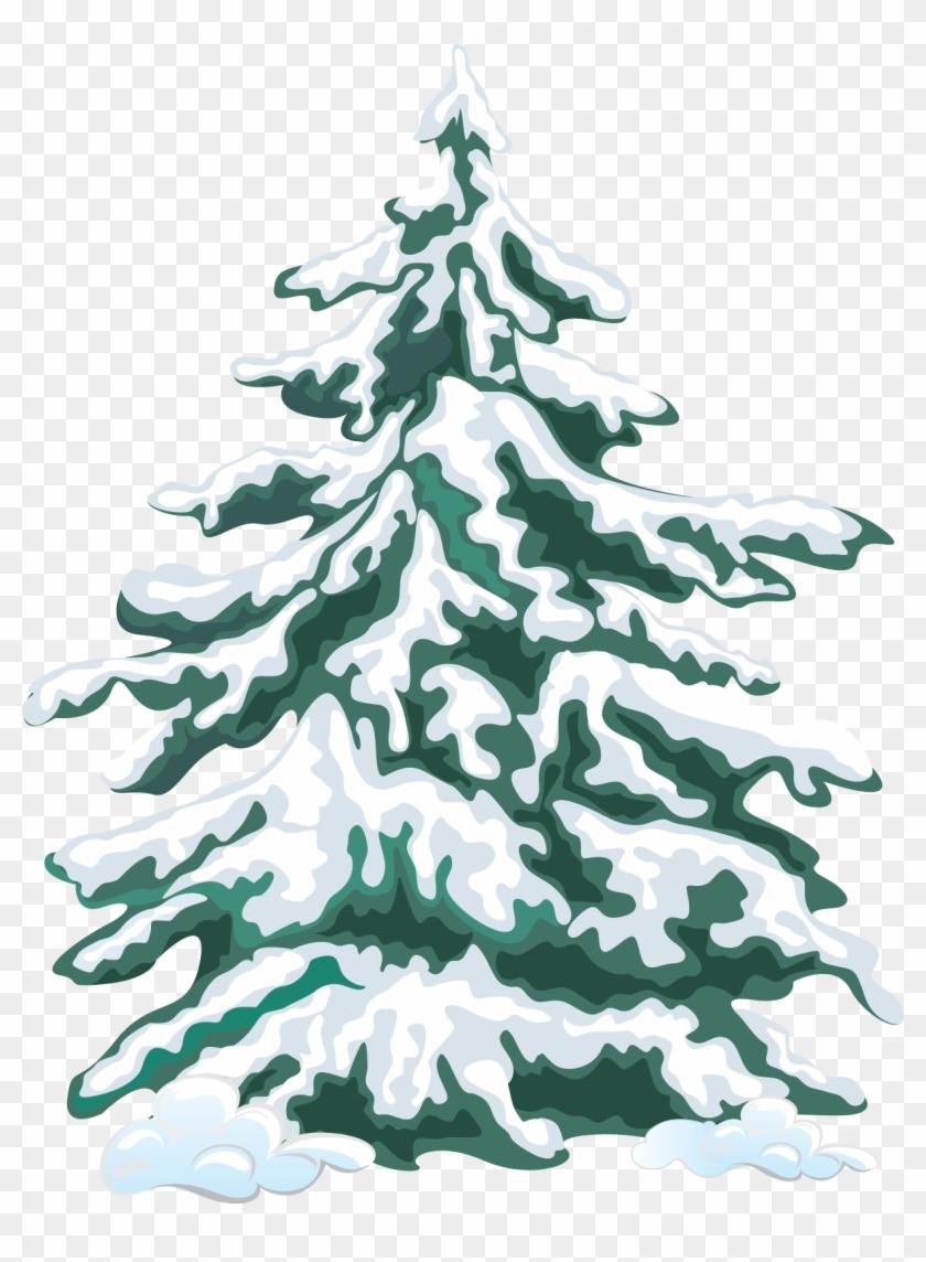 Fir Tree Clipart Group Tree - Snow Tree Clip Art #383077