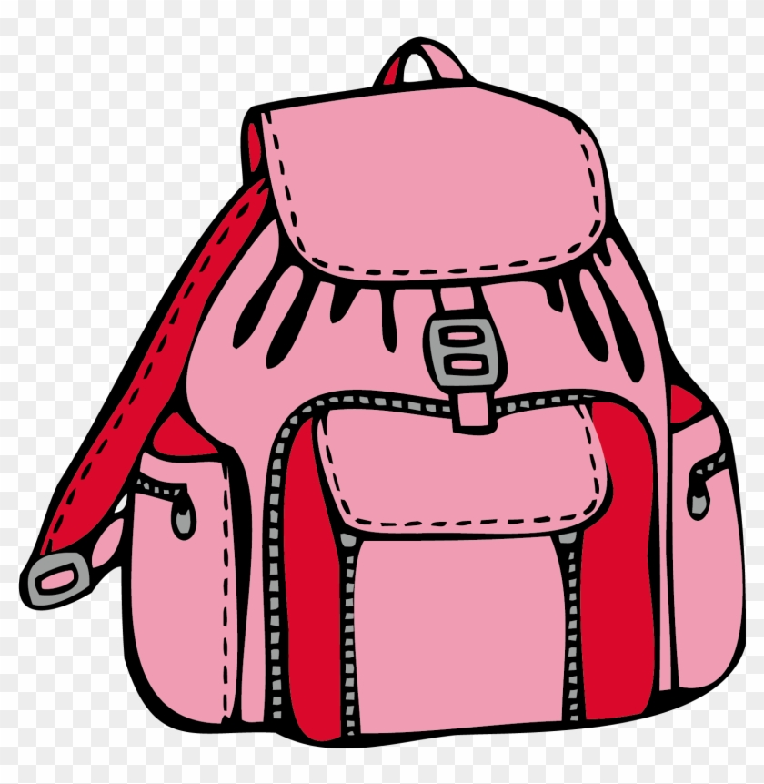 Backpack Coloring Book Bag Drawing Clip Art - Backpack Coloring Page #383255