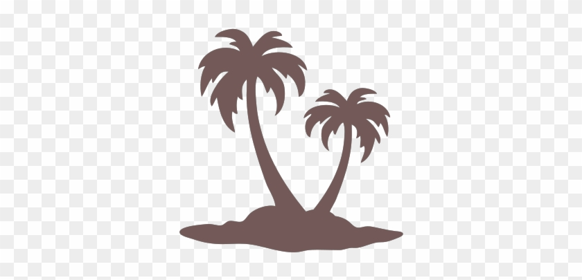 Palm Tree Island - Palm Tree Drawing Simple #383266