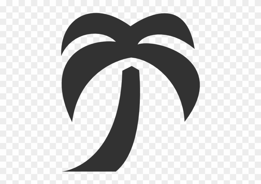 Palm Tree Icon - Palm Tree Icon #383345