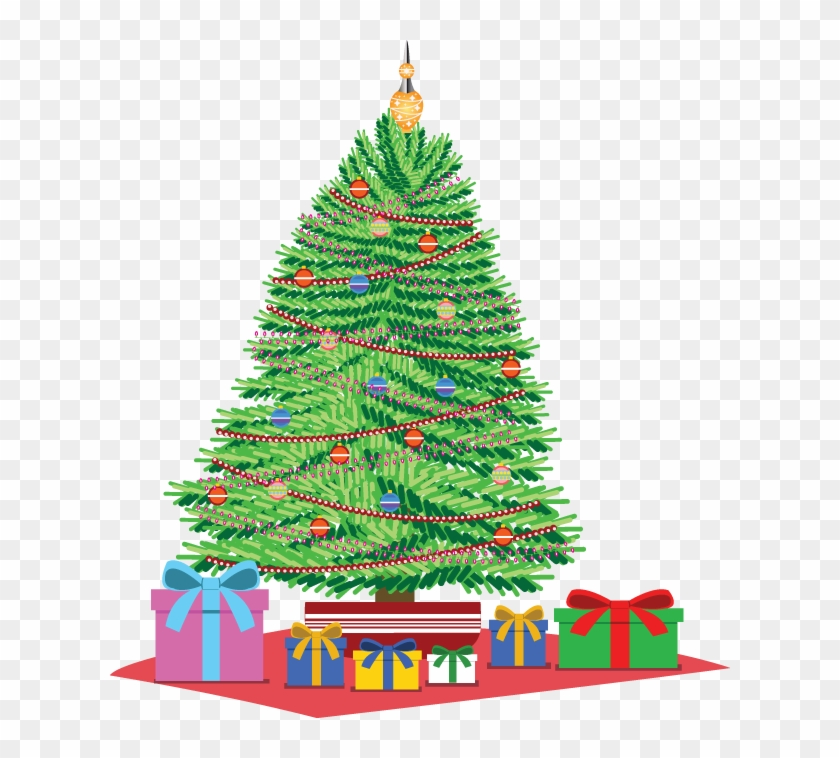 Christmas Tree Clipart Gift Clipart - Christmas Tree With Presents Under It Drawing #383347