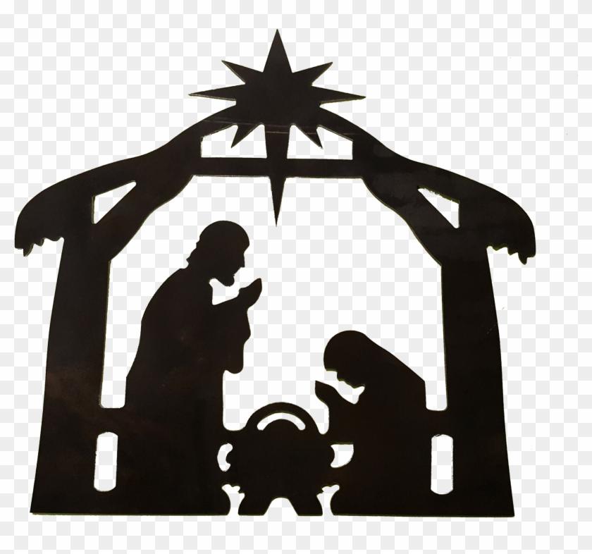 Nativity Scene - Nativity Silhouette Clip Art Transparent ...