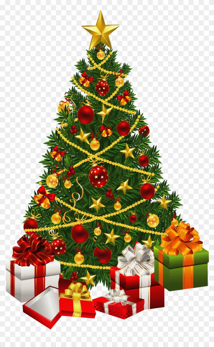 Clipart Of Christmas Tree With Presents Clip Art Christmas Tree