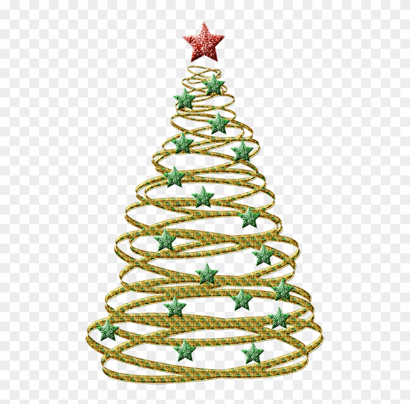 transparent gold christmas tree with green stars png black and white christmas tree clipart - Christmas Tree Transparent