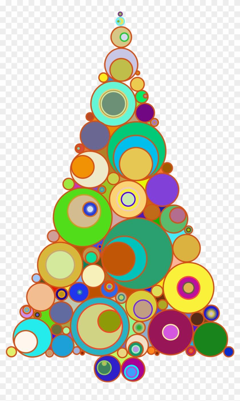 christmas tree clipart colorful christmas tree abstract art - Colorful Christmas Tree