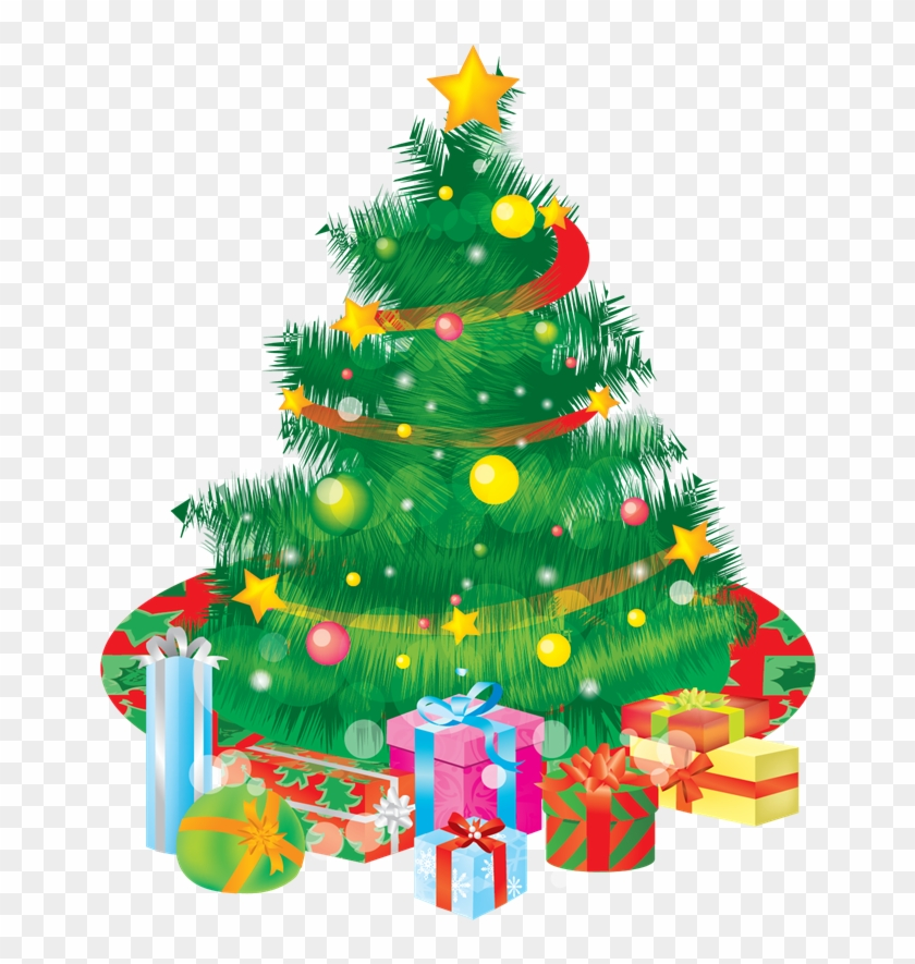 Christmas Tree With Presents Clipart - X Mas Tree Download #383387