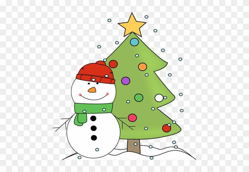 Xmas Tree Clip Art Christmas Tree Clipart Black And - Christmas Tree With Snowman #383527