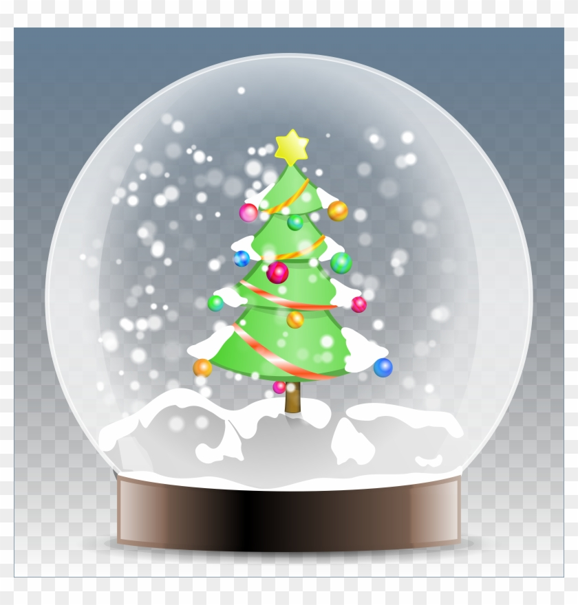 Christmas - Christmas Tree In A Snow Globe #383696