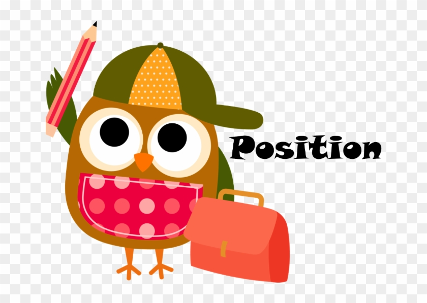 Position - Back To School Owl Clipart #383744