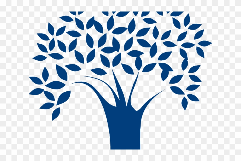 Tree Clipart Blue - Tree Vector Image Png #384034