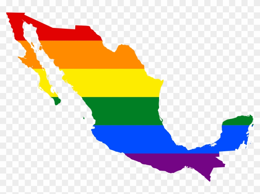 Lgbt Flag Map Of Mexico - Same Sex Marriage In Mexico #384146
