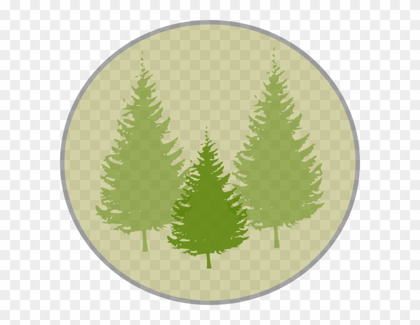 Fir Tree Clipart Three Pine - Pine Tree Silhouette Vector #384175