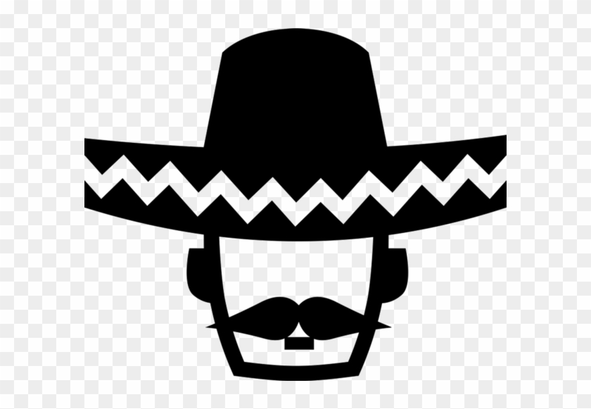 Mexican Man Wearing Sombrero Rubber Stamp - Hat #384267