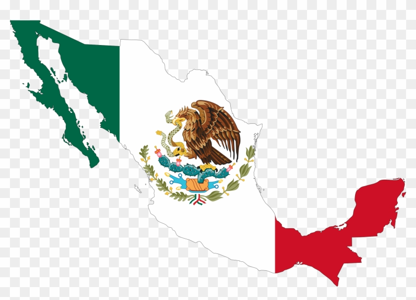 Mexico Flag Map Icons Png Free Png And Icons Downloads - Mexico Country With Flag #384300