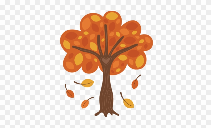 Autumn Tree Svg Scrapbook Cut File Cute Clipart Files - Trees In Fall Cartoon #384334