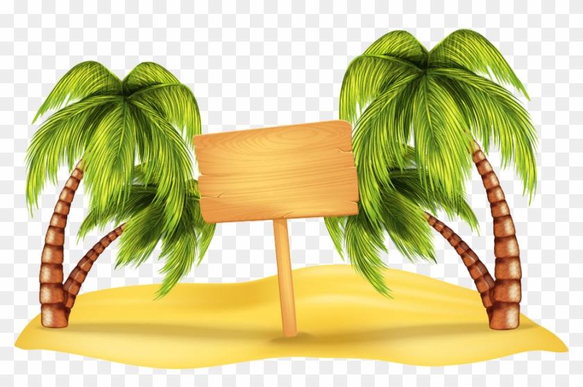 Beach Arecaceae Clip Art - Palm Trees Png #384542