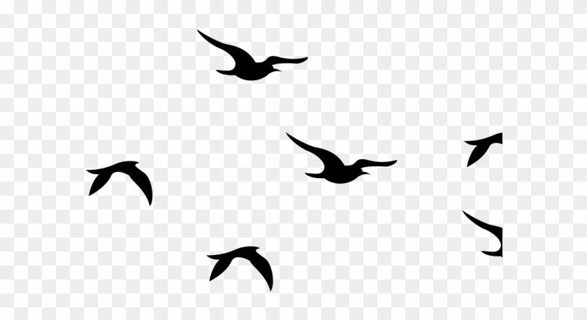 Blackbird Clipart Flying Dove - Silhouette Flying Birds - Free