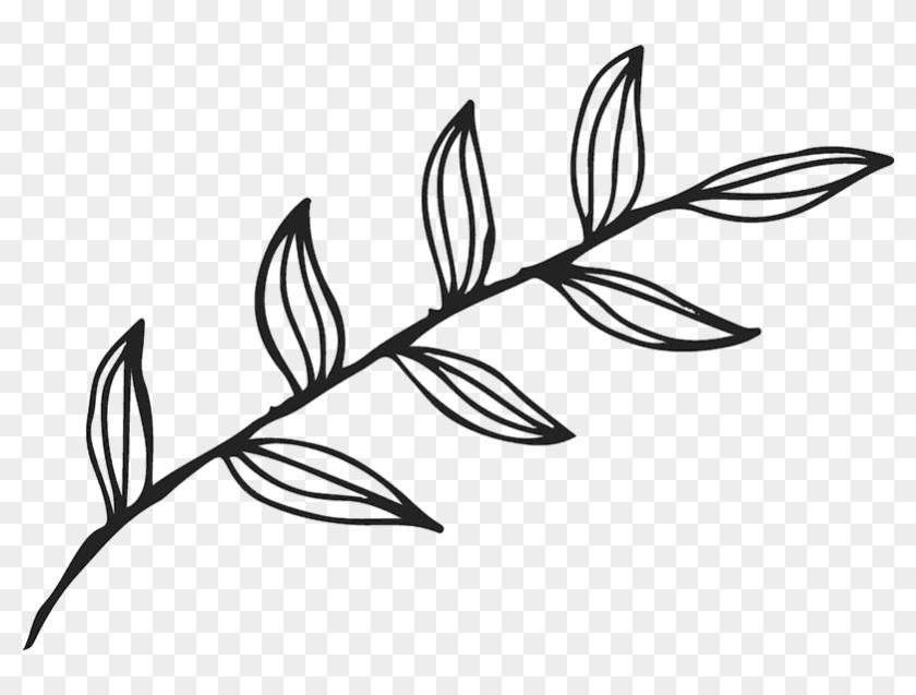 Elegant Leaf Outline Rubber Stamp - Leaf Outline #384787