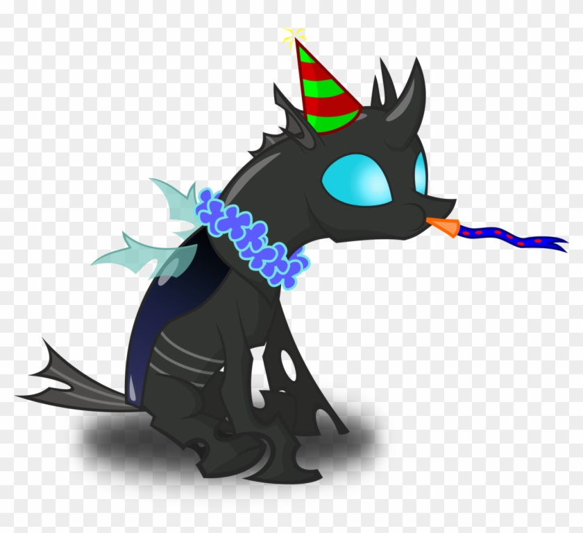 zimvader42 changeling hat lei new years eve noisemaker mlp