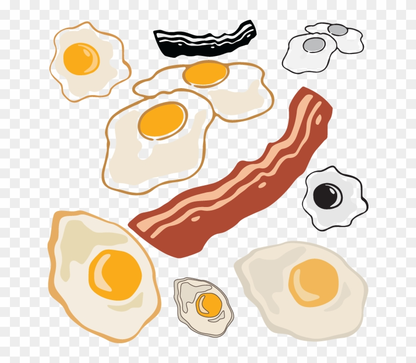 Https - //www - Oldcuts - Art/products/574 Bacon Eggs - Bacon And Eggs Clipart #385528