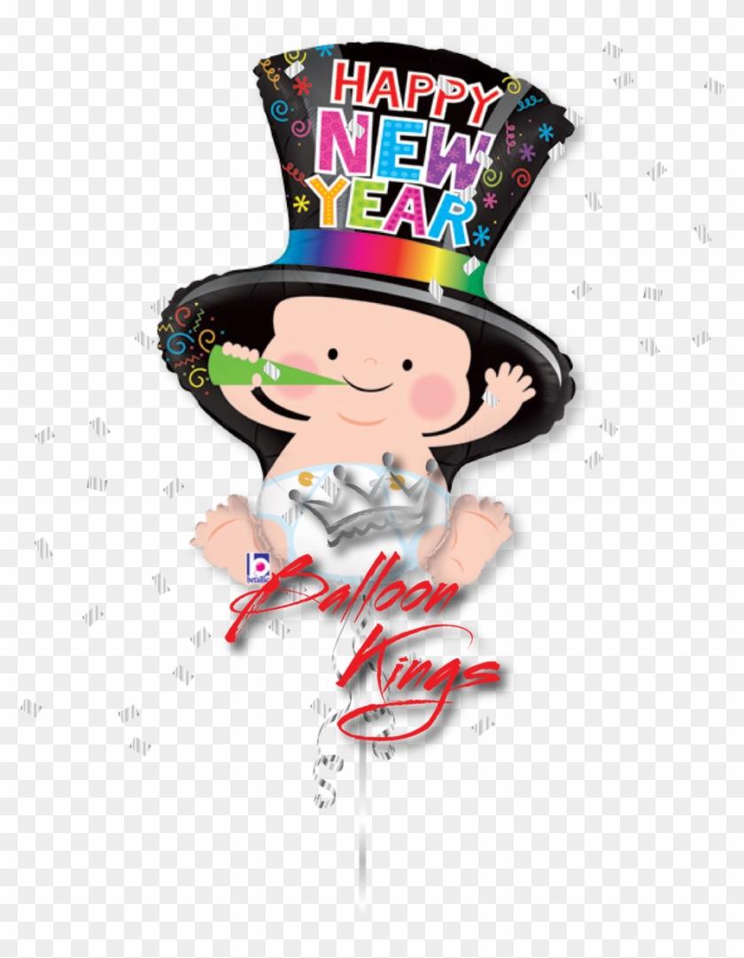"New Year Baby - 31"" Foil Shape Balloon New Year Baby - Mylar Balloons #385718"
