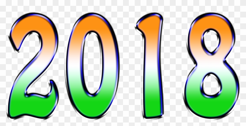 Happy New Year 2018 New 1st Class Images For Download - Happy New Year 2018 Text Png #385723