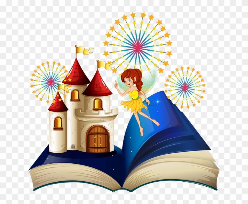Tubes Livres / Parchemins - Story Book Character Clipart #385893