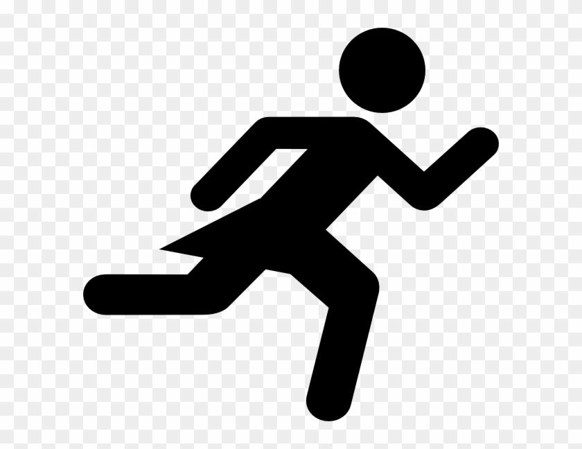 Girl Running Clip Art At Clker - Stick Figure Girl Running #61082